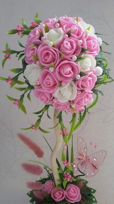 Уникальные топиарии из бисера: мастер-класс пошагово, топиарий с розами вышивка бисером 86