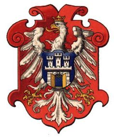 The Arch-Duchy of Krakau (now Kraków Poland) became part of Austria-Hungary during the third Polish division in 1795. In 1814 the Duchy became an independent State, but in 1846 it was incorporated into Galicia and thus part of Austria-Hungary again. The title was created in 1806. The arms show the arms of the city of Krakow on a shield with the Polish eagle