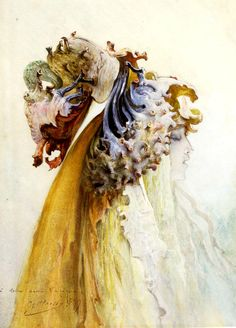 """""""Buste De Femme De Profil"""" by Georges Clairin Inscribed with the artist's name and the dedication """"a mon ami Lalique"""" (to my friend Lalique) Watercolor, ca. Illustrations, Illustration Art, Perfume, Great Artists, Vintage Posters, Painting & Drawing, Book Art, Art Nouveau, Artsy"""