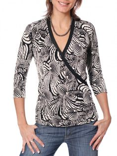 Jalie 2910 - Faux-Wrap Top for Women Pattern for Resistance Rey shirt