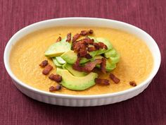 This silky flan brings sweet corn to the table in a totally unexpected way. A decadent topping of crisp bacon and slices of creamy avocado l...