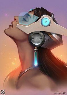 "Overwatch- ""Symmetra"" by mist XG on ArtStation [Fanart/art/blizzard/digital/painting/portrait/gaming/game] Cyberpunk, Overwatch Symmetra, Fanart, High Noon, Starcraft, Shadowrun, My Tumblr, Manga, Sci Fi Art"