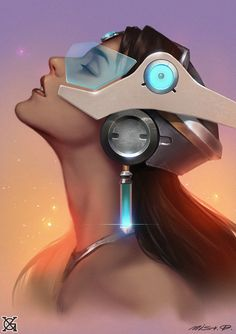 Symmetra   - Overwatch fan art by  mist XGMore from this series... #ShareArt - #Art #LoveArt http://wp.me/p6qjkV-fnF