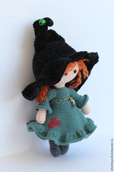 Купить Маленькая колдунья - рыжий, куколка в кармашек, куколка вязаная, кукла…