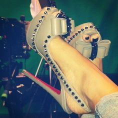 Christian Louboutin Bow Spike Stillettos Design works No.2039  2013 Fashion High Heels 