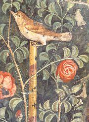A Fresco from Pompeii representing a typical Roman garden