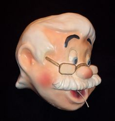 Vintage Pinocchio's Geppetto String Holder