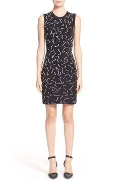 Alexander Wang Shadow Line Jacquard Knit Dress
