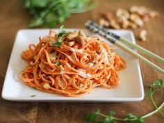 Raw Carrot Pasta Sal