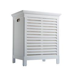 Davenport Hamper - Laundry Hamper with 2 Bags / White / ELG-606