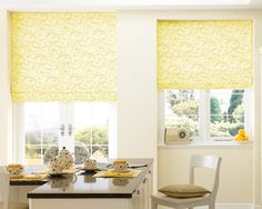 Roman blind, it completely brights up the room!
