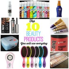 Top 10 Beauty Products (you will use everyday)! Don't miss these, I can't live without them!