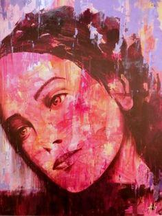 """Saatchi Art Artist ANGEL GUERRERO FERRER; Painting, """"REFLEXION"""" #art"""