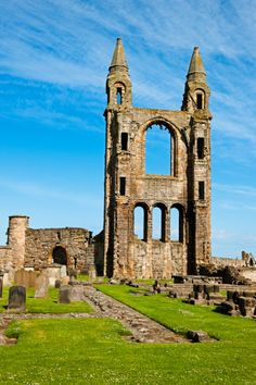 The ruins of St Andrews Cathedral, Scotland.I want to go see this place one day.Please check out my website thanks. www.photopix.co.nz