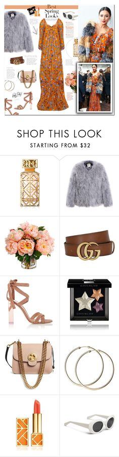 """Shay Mitchell"" by mery90 ❤ liked on Polyvore featuring Tory Burch, H&M, New Growth Designs, Gucci, Gianvito Rossi, Givenchy and Chloé"