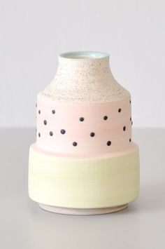 "Glazed porcelain bud vase from ceramicist Ben Fiess. Exclusive Koromiko collaboration. - 4.5"" tall x 3.25"" wide at base Handmade in Minnesota"
