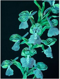 Botanical Collection Botanical Lotus Blues Canvas Print, 60x80cm