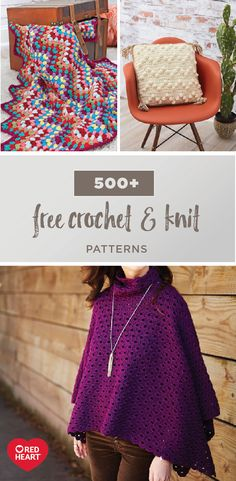New year, new you! And if that means trying new craft projects then, you're in luck! With 500+ Free Crochet and Knit Patterns, making everything from a Bobble Stitch Pillow to a Throwback Granny Chevron Blanket has never been so easy. Thanks to its vivid color selection, Red Heart yarn will make any activity you try a work of art. Plus, no matter your skill level—beginner, expert, or somewhere in between—you're sure to discover the perfect project for you.