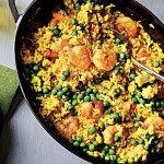 Shrimp with Lemon-Saffron Rice Recipe from Cooking Light Magazine