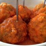 Albóndigas de Carne con salsa de tomate