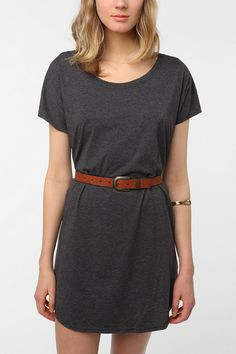 Classic t-shirt dress. Comfy and cheap! Urban Outfitters.
