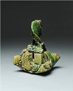 Artist: Shigemasa Higashida, Title: Oribe Incense Burner - click on image to enlarge