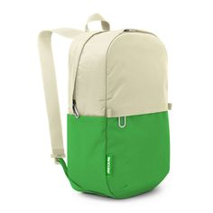 off white + kelly green // Campus Mini Backpack for MacBook Pro by Incase