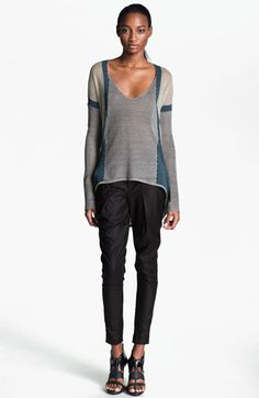 Helmut Lang Contrast Border Pullover available at #Nordstrom