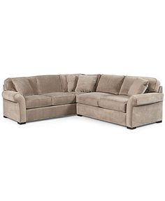 Joyce Fabric Sectional Sofa, 2 Piece (Apartment Sofa & Sofa with Corner) 111W x 97D x 29H - Sectional Sofas - furniture - Macys