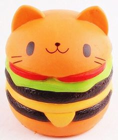 Jumbo Slow Rising squishies Kawaii Cat Hamburger Cream Scented Stress Relief large Kawaii Squishy as Collection Gift Toy  Without any bad chemical smell:high quality,It smells like bread. Great for gifts or collecting.  Super-great hand feeling: a kawaii Hamburger product for super soft and squishy slow rising ; so much fun to squeeze/press/pinch it, a good feeling  Really realistic looking:squishy and totally Kawaii. Cute & soft squishy, Also As stress relief toys for giving vent to y...