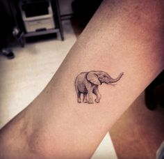 Elephant tattoo by Dr. Woo                                                                                                                                                      Mehr