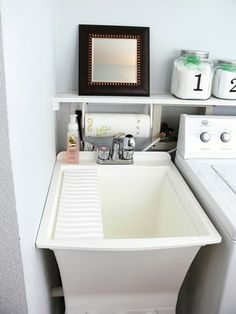 """Visit our site for additional relevant information on """"laundry room storage small shelves"""". It is a great location to learn more. Laundry Room Utility Sink, Laundry Craft Rooms, Laundry Room Colors, Small Laundry Rooms, Laundry Room Organization, Laundry Room Design, Small Rooms, Small Spaces, Laundry Area"""