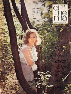 "Romanian actress Ioana Bulcă. Front cover of ""Cinema"" magazine (August 1968)"