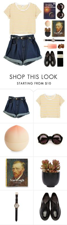 """MOONRISE KINGDOM"" by megmara ❤ liked on Polyvore featuring Monki, Tony Moly, Wildfox, Lux-Art Silks, Shinola, Dr. Martens and Falke"