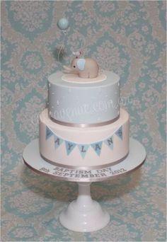 Baby Elephant Cake in Blue - Cake by CakeAvenue - CakesDecor