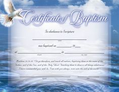 baptism certificates free | Certificate of Baptism :: Certificates :: Church…