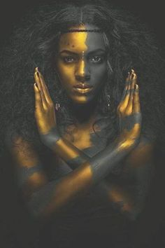 Black and Gold African Nude Woman Indian Oil Painting on Canvas Posters and Prints Scandinavian Wall Art Picture for Living Room Black Women Art, African Beauty, African Art, Face Art, Black Is Beautiful, Gorgeous Body, Absolutely Gorgeous, Beautiful Pictures, Black Art Pictures