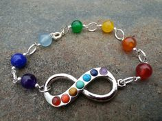Check out this item in my Etsy shop https://www.etsy.com/listing/213419306/chakra-infinity-bracelet