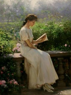 Figurative Painter AN HE (Chinese: 1957) Afternoon Read