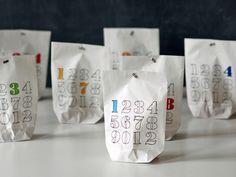 Adventskalender - Adventskalender (für Selbstfüller und -ausmaler!) - ein Designerstück von sperlingB bei DaWanda