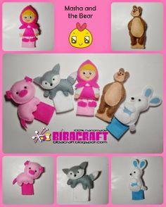 Biba Craft Collection: Finger Puppets/Boneka Jari Masha n the bear series