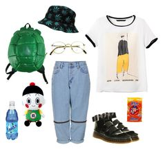 """kipi toti"" by pallo ❤ liked on Polyvore featuring Boutique, Hershey's, Bandai and Dr. Martens"