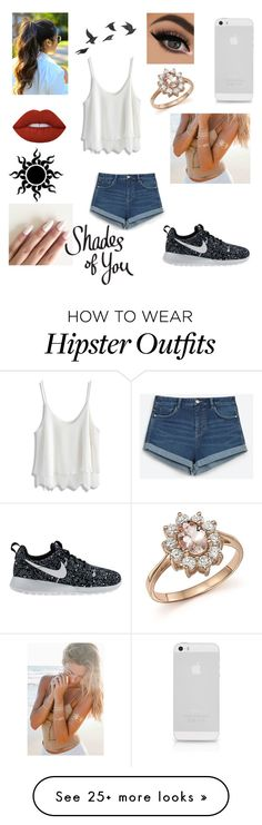 """Talia's Outfit"" by vannahgirl012 on Polyvore featuring Zara, Chicwish, NIKE, Bloomingdale's, Lime Crime and Jayson Home"