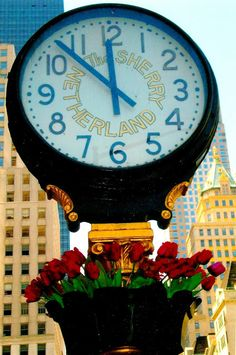 This clock is at the Sherry Netherland, standing here at 781 Fifth Avenue since 1927.