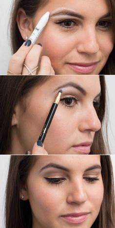 Genius Eyeliner Hacks Every Woman Needs to Know Use white eyeliner as a brow highlighter for an instant eye lift.Use white eyeliner as a brow highlighter for an instant eye lift. Eyeliner Make-up, Eyeliner Hacks, Makeup Hacks, Black Eyeliner, Natural Eyeliner, White Eyeliner Tips, Hair Hacks, Simple Eyeliner, Costume Makeup
