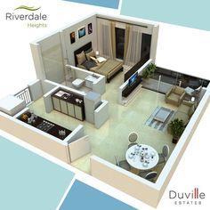 3d House Plans, Duplex House Plans, House Layout Plans, Apartment Floor Plans, Dream House Plans, Small House Plans, House Layouts, House Floor Design, Small House Interior Design