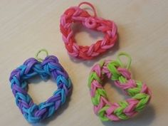 RAINBOW LOOM HEART: THIS YOUTUBE TUTORIAL SHOWS YOU HOW TO MAKE RAINBOW LOOM HEARTS