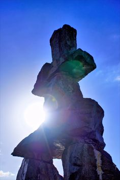 Inukshuk stone monument in Vancouver BC Canada. Have you ever seen an Inukshuk Monument as beautiful as this? This is just brilliant photography by our very talented Brian Raggatt. Vancouver Bc Canada, Native Art, Stone, Places, Nature, Photography, Travel, Beautiful, Rock