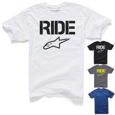 Alpinestars Ride Solid Short Sleeve Crewneck Tees Motorcycle Mens T-Shirts