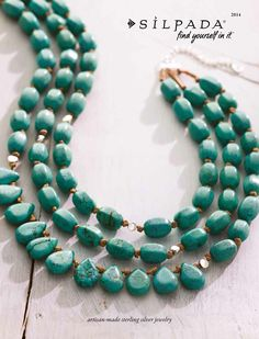 My favorite Silpada Spring accessory! With jeans, maxis, skirts & capris. Drops of the Ocean necklace howlite & sterling silver $149 www.mysilpada/monique.taetle